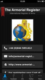 The Armorial Register App for iphone and Android etc.